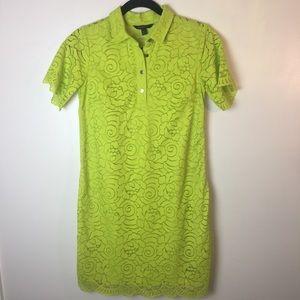 Banana Republic lime green lace dress